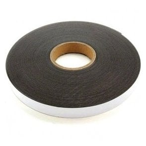 FerroFlex® 25mm Wide Ferrous Strip - 3M™ Self-Adhesive / Gloss White