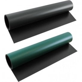 FerroFlex® 600mm Wide Flexible Ferrous Sheet - Self Adhesive Backing & Black/Green Chalkboard