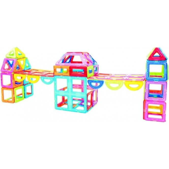 Fun with Magnets Magnetic Building Blocks - 112 piece set