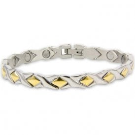 Ladies Rare Earth Magnetic Bracelet With Fold-over Clasp – Helix