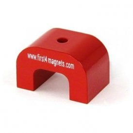 Large Red Alnico Horseshoe Magnet - 11kg Pull (30 x 45 x 30mm 4.5mm hole) (Pack of 20)