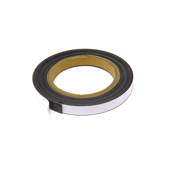MagFlex® 12.7mm Wide Flexible Magnetic Strip - Standard Self-Adhesive