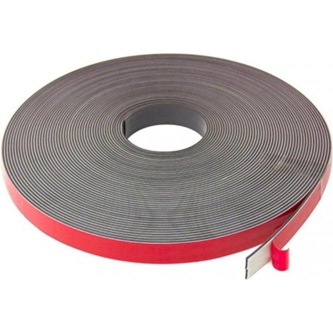 MagFlex® 19mm Wide Flexible Magnetic Tape - Foam Self Adhesive - Self Mating (5x 30 Metre Lengths)