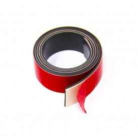 MagFlex® 25.4mm Wide Flexible Magnetic Tape - Foam Self Adhesive - Polarity A (1 Metre Length)
