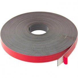 MagFlex® 25.4mm Wide Flexible Magnetic Tape - Foam Self Adhesive - Polarity A (5 Metre Length)
