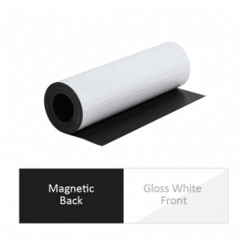 MagFlex® 300mm Wide Flexible Magnetic Sheet - Gloss White (2x 5 Metre Lengths)