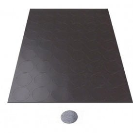 MagFlex® 30mm Dia Self Adhesive Flexible Magnetic Dots - 54 per A4 Sheet (1 Sheet)