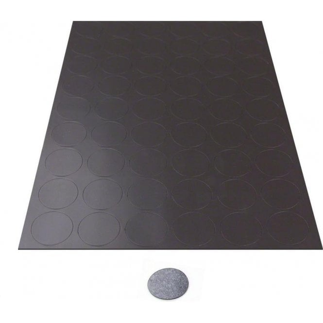 MagFlex® 30mm Dia Self Adhesive Flexible Magnetic Dots - 54 per A4 Sheet