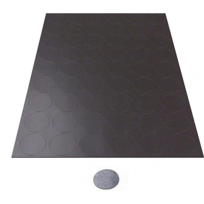MagFlex® 30mm Dia Self-Adhesive Flexible Magnetic Dots - 54 per A4 Sheet