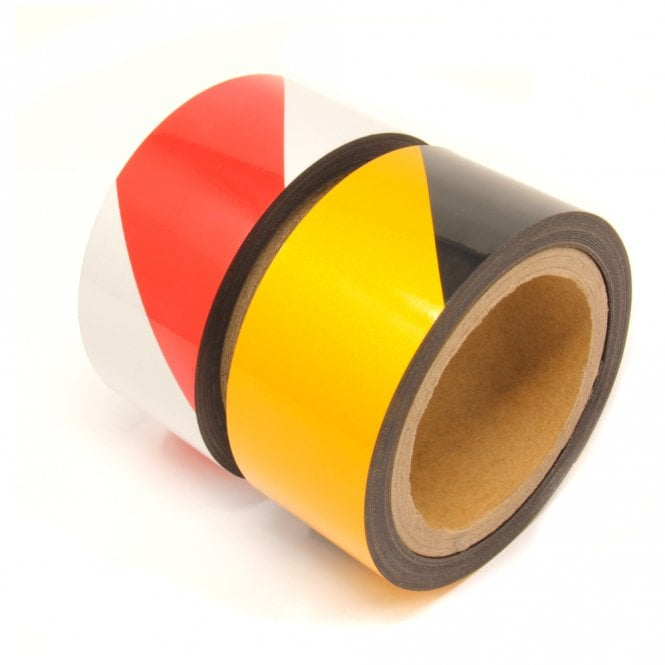 MagFlex® 50mm Wide Flexible Magnetic Hazard Warning Tape - 2 Colours (Per 5 Metre Length)