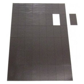 MagFlex® 50mm x 24mm Self Adhesive Flexible Magnetic Rectangles - 48 per A4 Sheet