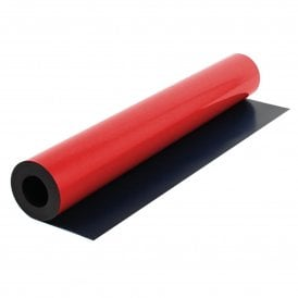 MagFlex® 590mm Wide Flexible Magnetic Sheet - Matt Red (5 Metre Length)
