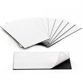 MagFlex® 89mm Long x 51mm Wide Business Card Magnet - Standard Self Adhesive (10 Sheets)
