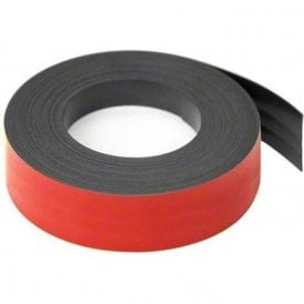 MagFlex® Lite 25mm Wide Flexible Magnetic Gridding Tape - Matt Red (5x 5 Metre Lengths)