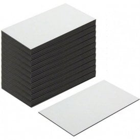 MagFlex® Lite 89mm Long x 51mm Wide Flexible Magnetic Labels - Gloss White Dry Wipe Surface (500 Sheets)