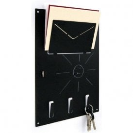 Magnetic A4 Organiser Blackboard with Key Hooks (Pack of 1)