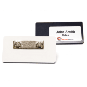 Magnetic Name Badge with Card Insert Window (76mm x 38mm)