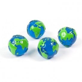Magnets GLOBE, Set of 4, Blue/Green
