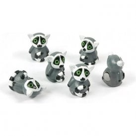 Magnets LEMUR, Set of 6, Grey