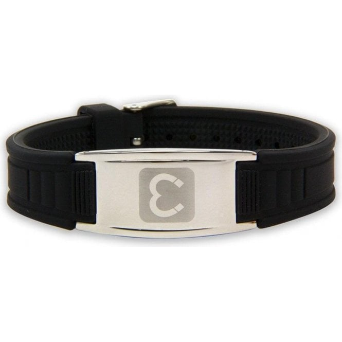 Magnets4 - Unisex Rare Earth Magnetic Sports Bracelet - Black