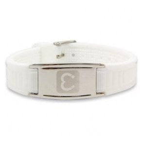 Magnets4 - Unisex Rare Earth Magnetic Sports Bracelet - White