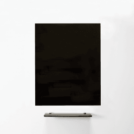 MagniPlan 900 x 600 Magnetic Glass Wipe Board - Black