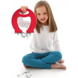 Massive Red Horseshoe Magnet - Science & Education
