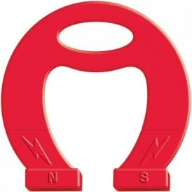 Massive Red Horseshoe Magnet - Science & Education (Pack of 3)