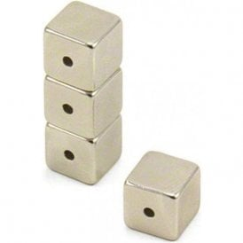 Neodymium Halbach Array Magnet 10 x 10 x 10mm with 2mm hole through the side (Pack of 80)