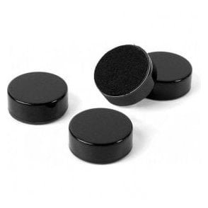 Plain Circular Office Magnets - Black (23mm dia x 9mm thick)