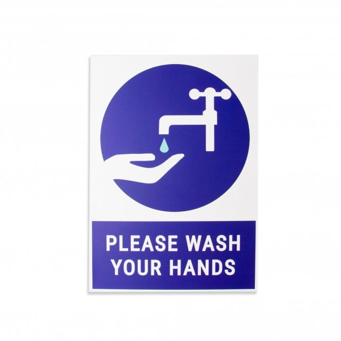 Please Wash Your Hands Magnetic Sign (Pack of 1)