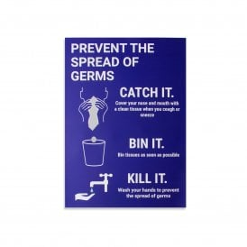 Prevent The Spread of Germs Magnetic Sign - Blue