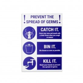 Prevent The Spread of Germs Magnetic Sign - White (Pack of 1)