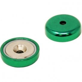 32mm dia A Type Coloured Neodymium Pot Magnets - 36.4kg Pull
