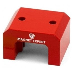 Red Alnico Horseshoe Magnet - 37kg Pull (70 x 41 x 57mm)