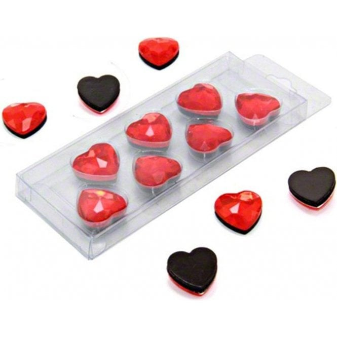 Red Heart Shaped Magnets (20mm dia x 8mm high) (x7)