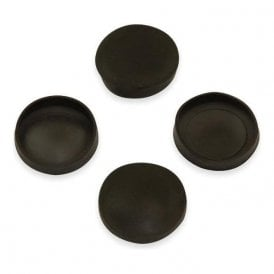 Rubber Cap Suitable for 20mm dia Magnets (21mm dia x 4mm high x 0.5mm thick) (Pack of 80)
