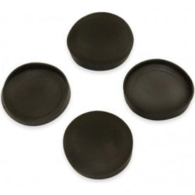 Rubber Cap Suitable for 25mm dia Magnets (26mm dia x 4mm high x 0.5mm thick) (Pack of 4)