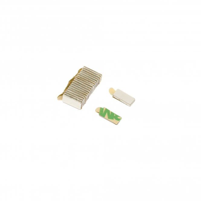 Self Adhesive 10 x 5 x 1mm thick N42 Neodymium Magnets - 0.6kg Pull