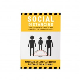 Social Distancing Magnetic Sign (Pack of 1)