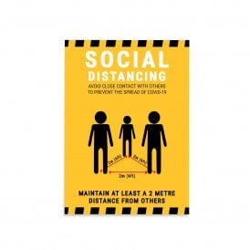 Social Distancing Magnetic Sign – Yellow (Pack of 1)
