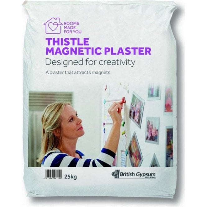 Thistle Magnetic Plaster by British Gypsum – 25kg bag (5sqm coverage)